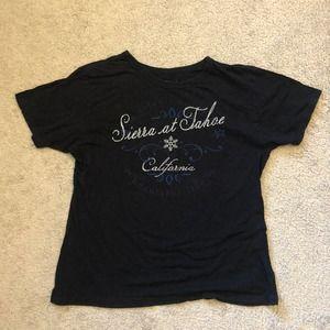Sierra at Tahoe California Women's T Shirt sz. M